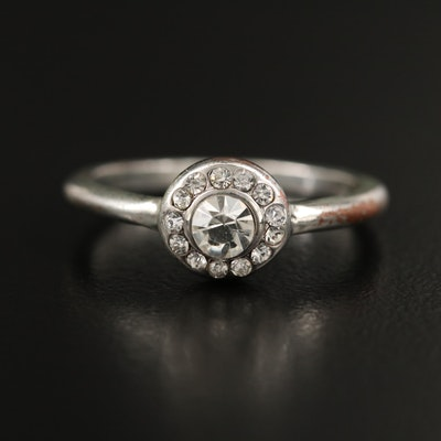 Rhinestone Halo Ring