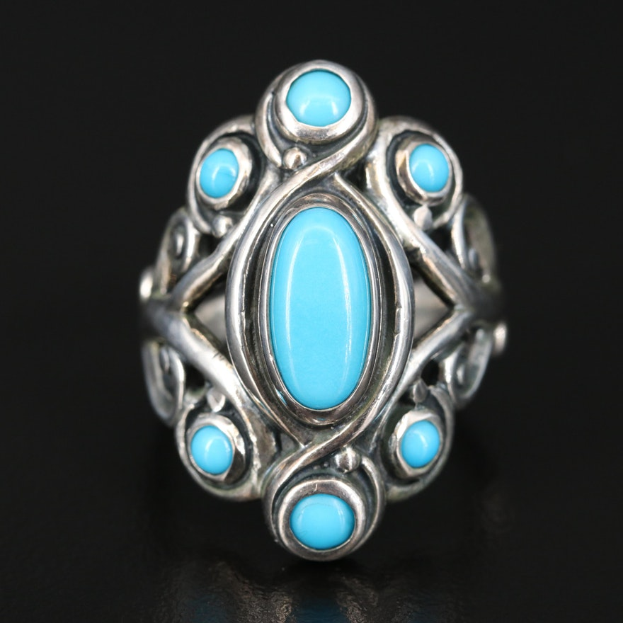 Carolyn Pollack for Relios Sterling Turquoise Ring