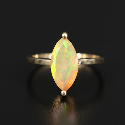 9K Opal Marquise Ring