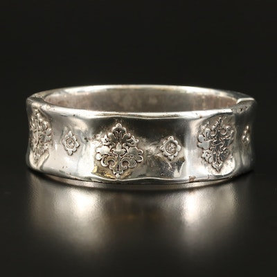 Brighton Rhinestone Scrollwork Hinged Bangle