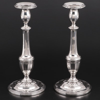 "Towle ""Old Colonial"" Weighted Sterling Silver Candlesticks"
