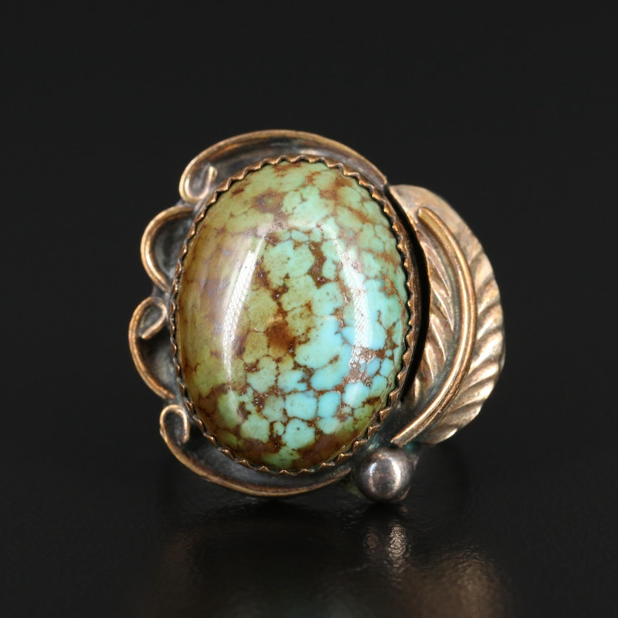 Herbert Tsosie Navajo Diné Sterling Silver Turquoise Ring