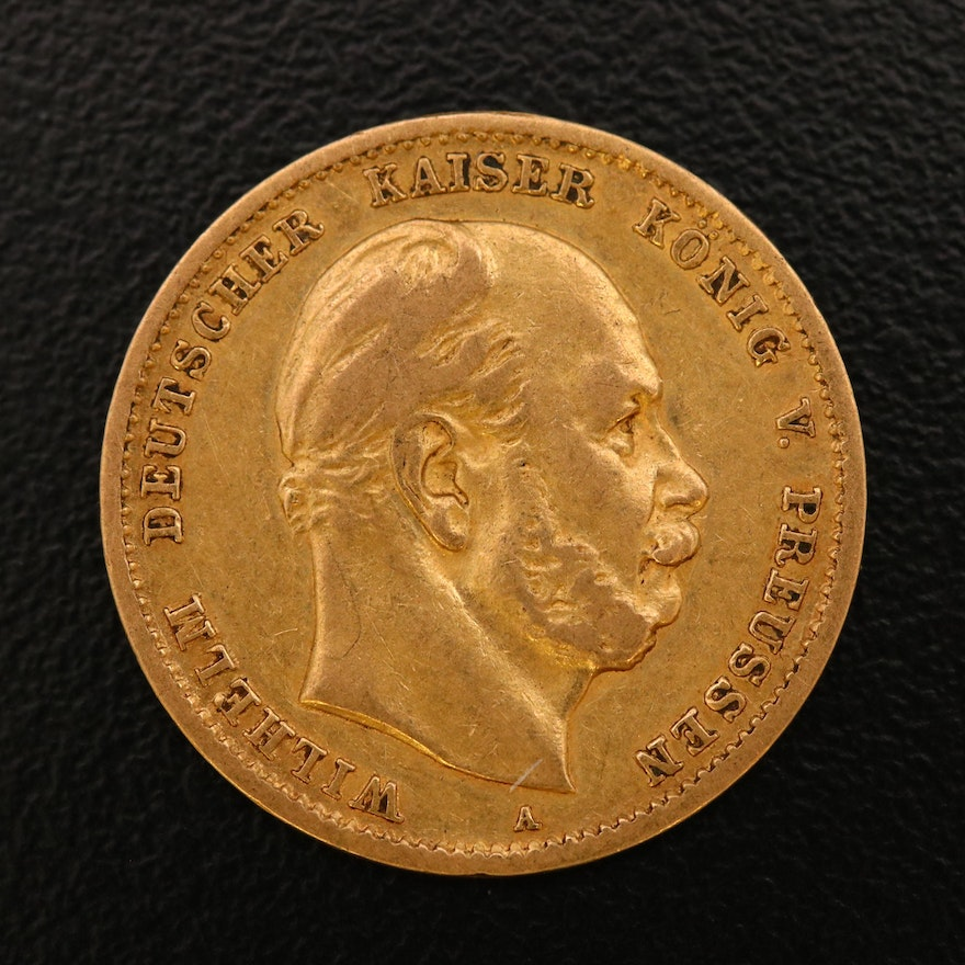 1872 Prussian 10 Mark Gold Coin