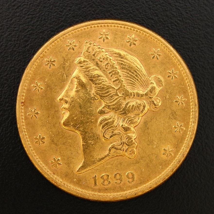 1899 Liberty Head $20 Gold Double Eagle