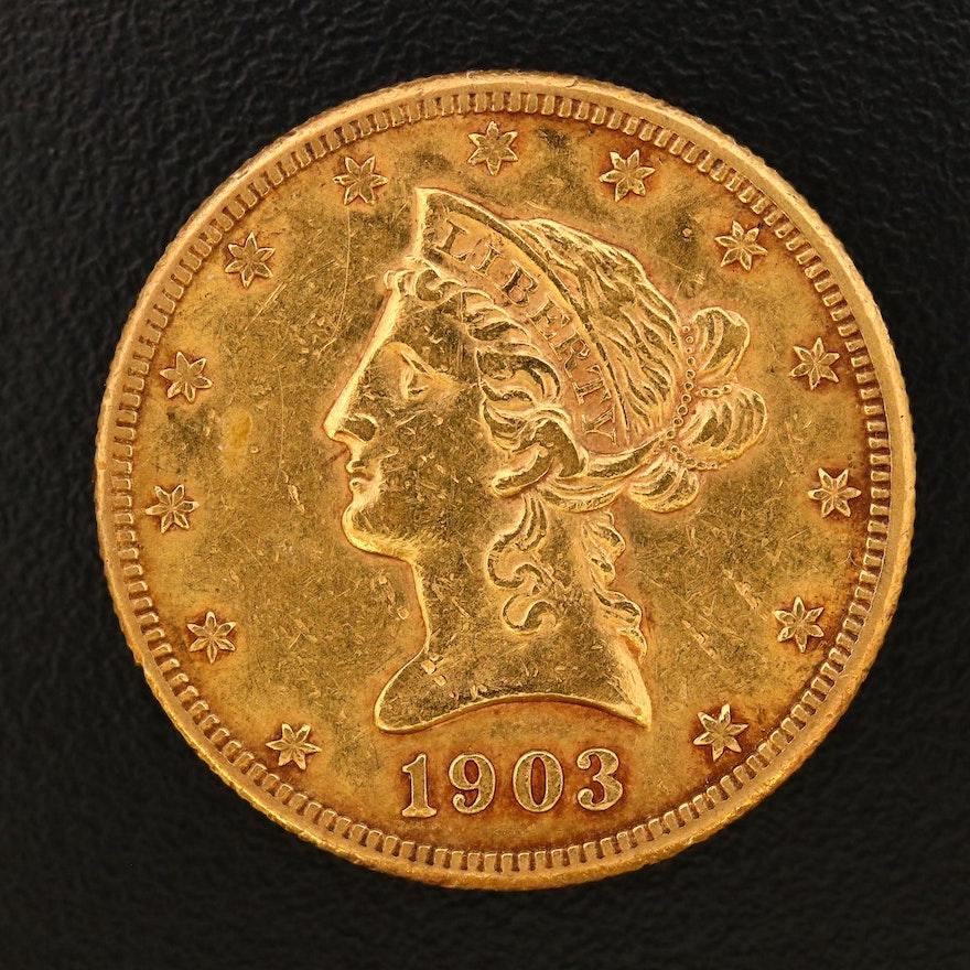 1903-S Liberty Head $10 Gold Eagle