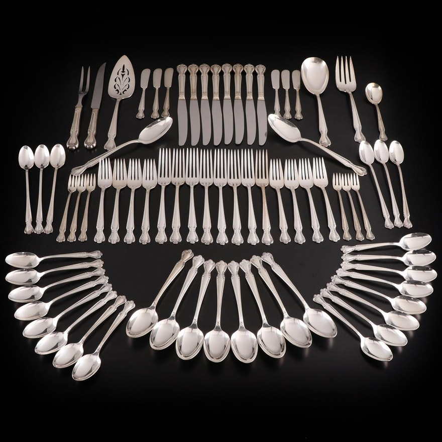 """Rogers & Bro. """"Elegant Lady"""" Silver Plate Flatware with Chest"""