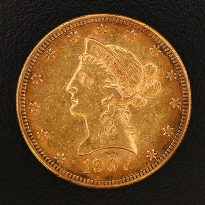 Low Mintage 1907-S Liberty Head $10 Gold Eagle