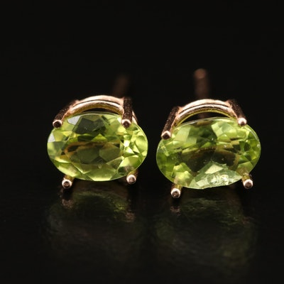14K Peridot Stud Earrings