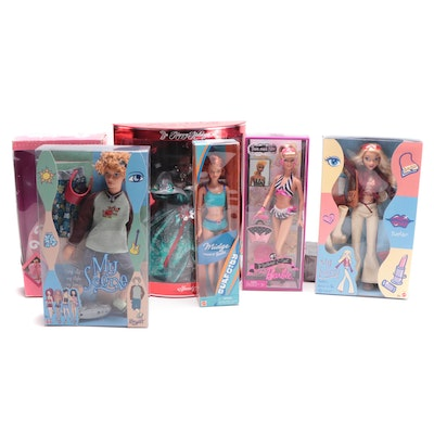 """Mattel """"Happy Holidays"""" Barbie with Other Barbies and My Scene Dolls"""