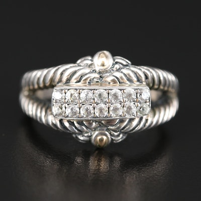 Robert Manse Sterling Topaz Band with 18K Accents