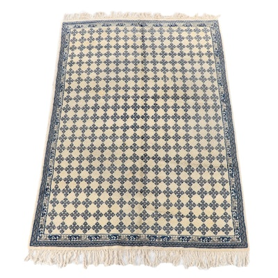 6'7 x 10'5 Hand-Knotted Scandinavian Wool Area Rug