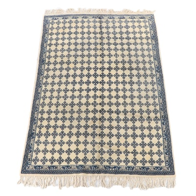 6'7 x 10'5 Hand-Knotted Scandinavian Wool Area Rug