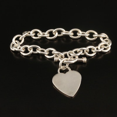 Sterling Bracelet with Heart Charm
