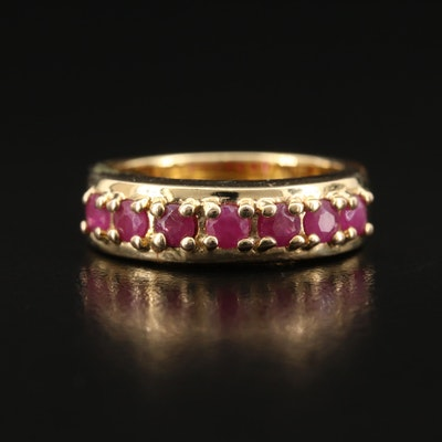 Sterling Silver Ruby Band