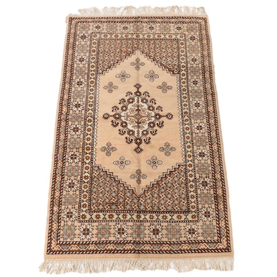 "5'5 x 10'2 Hand-Knotted Tunisian ""Tapis"" Wool Rug"