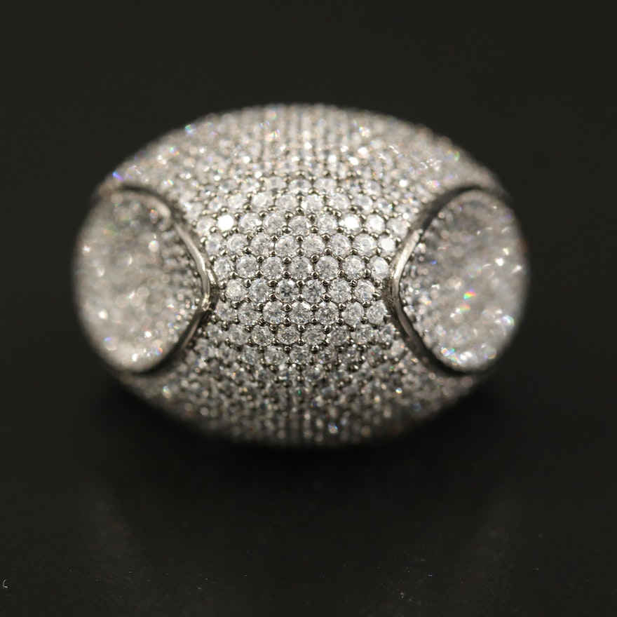 Sterling Cubic Zirconia Dome Ring