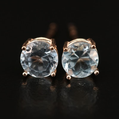14K Topaz and Spinel Stud Earrings