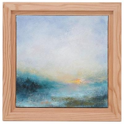 """Sarah Brown Acrylic Painting """"Setting Sun,"""" 2019"""