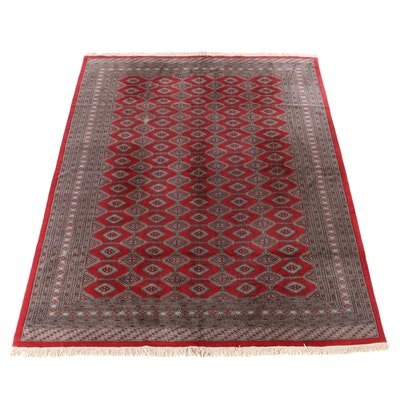 9'5 x 12'6 Hand-Knotted Pakistani Turkmen Bokhara Room Size Rug