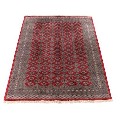 9'5 x 12'6 Hand-Knotted Pakistani Turkmen Bokhara Room Size Rug