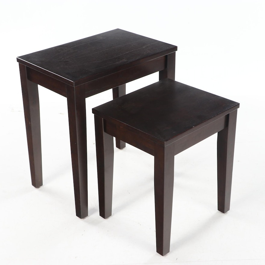 """Set of Two Pottery Barn """"Claire"""" Nesting Tables"""
