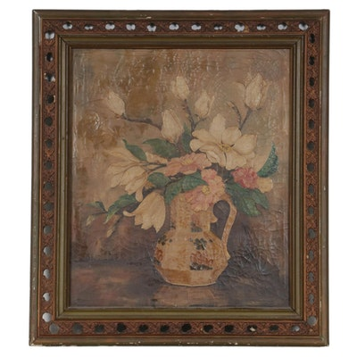 Floral Still Life Oil Painting, Early 20th Century