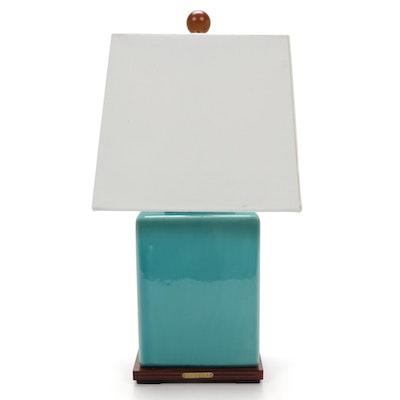 "Ralph Lauren ""Meredith"" Turquoise Crackle Glaze Porcelain Table Lamp, 2018"
