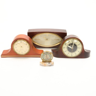 Sessions, Seth Thomas Mantel Clocks and Pompadour Swiss Table Clock