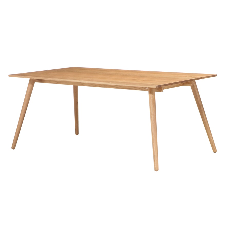 "Article ""Seno"" Scandinavian Style White Oak Dining Table"