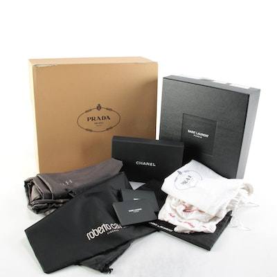 Prada, Chanel, Yves Saint Laurent, and Other Designer Gift Boxes and Dust Bags