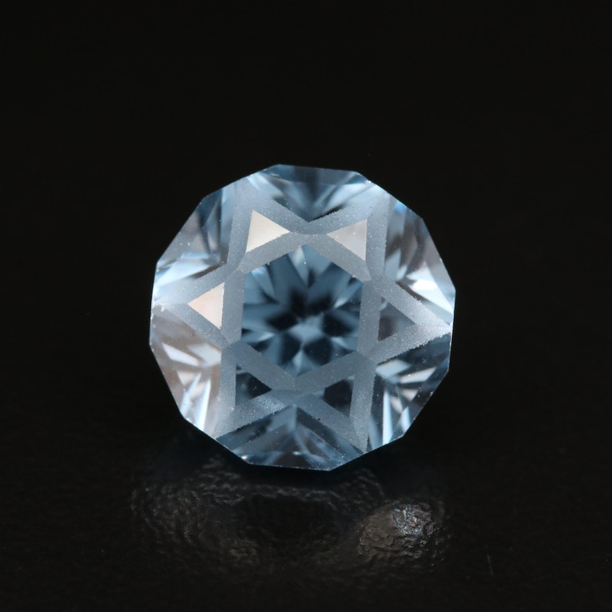 Loose 9.88 CT Octagonal Faceted Topaz
