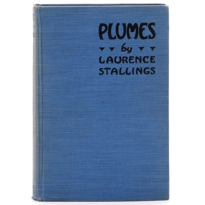 "Signed Eighth Printing ""Plumes"" by Laurence Stallings, 1925"