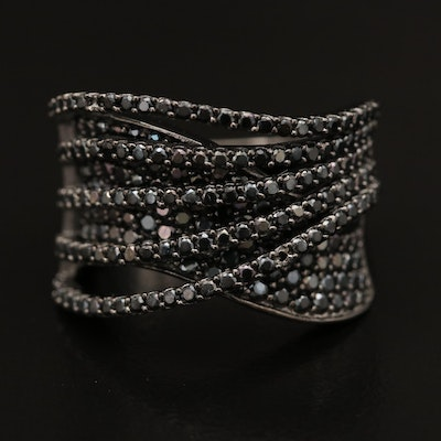 Sterling Silver Spinel Crossover Ring