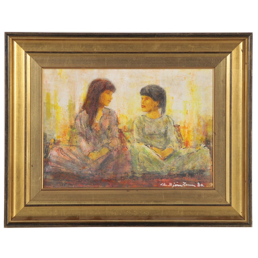 Figural Oil Painting, 1980
