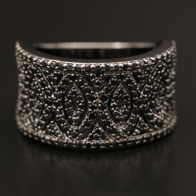 Sterling Silver Spinel Openwork Ring