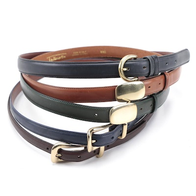 Coach Leather Belts in Navy and Brown with Talbots Green and Brown Leather