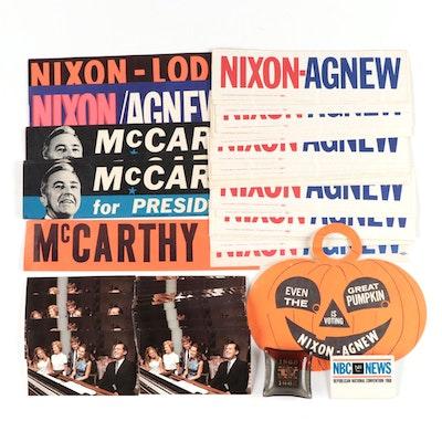 Richard Nixon and Spiro Agnew U.S. Presidential Campaign Memorabilia, 1968