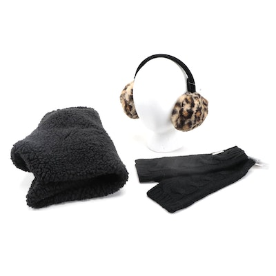 MICHAEL Michael Kors Fingerless Gloves with INC Infinity Cowl and Earmuffs