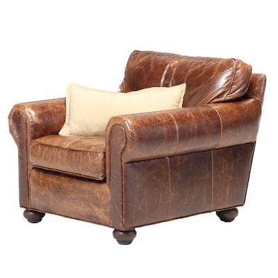 Restoration Hardware Leather Armchair