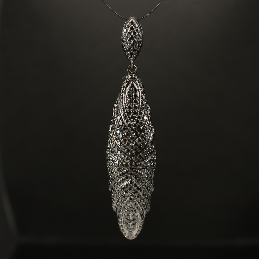 Sterling Silver and Spinel Pendant