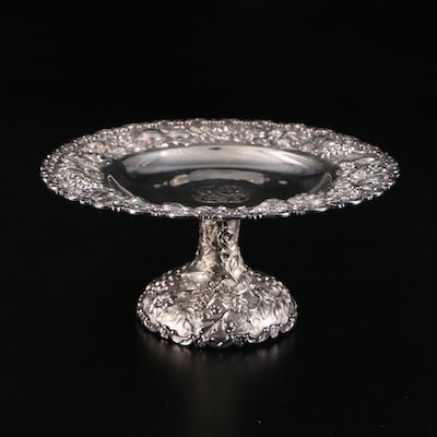 The Loring Andrews Co. Repoussé Sterling Silver Taza, Early 20th Century