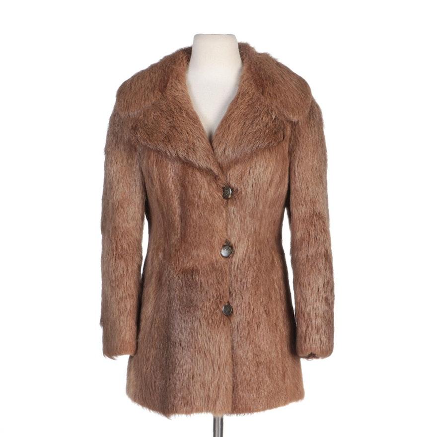 Nutria Fur Coat by Bielskie Furriers