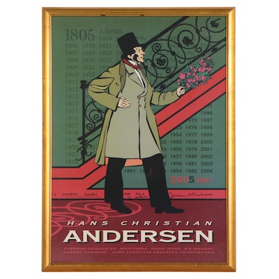"""Offset Lithograph Poster """"Hans Christian Andersen,"""" Late 20th Century"""