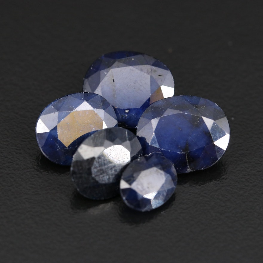 Loose Oval Faceted Sapphires