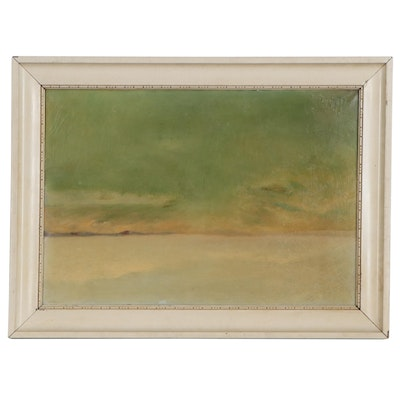 Oil Painting of Tonal Landscape, Early 20th Century