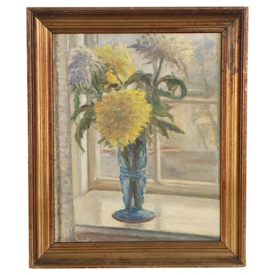 Impressionist Style Still Life Oil Painting, Early 20th Century