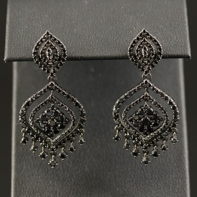 Sterling Spinel Dangle Earrings