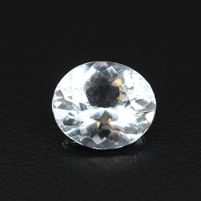 Loose 5.00 CT Oval Faceted Aquamarine