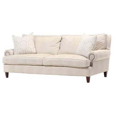 Simple Elegance Faux Crocodile Upholstered Sofa