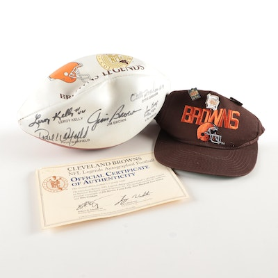 "Cleveland Browns Signed ""Legends"" Wilson Football, Jim Brown, Otto Graham, More"